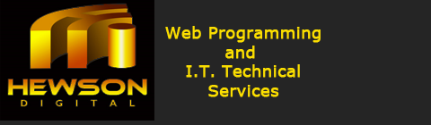 Hewson Digital Web Design, Programming, DBA and Technical Services in Bedfordshire (Beds)